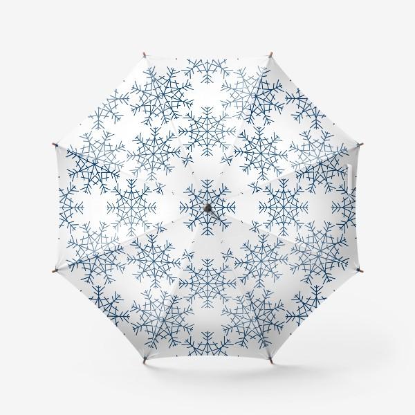 Зонт «Синие снежинки»