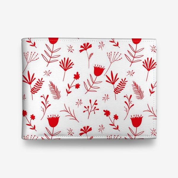 Кошелек «Красные цветы»