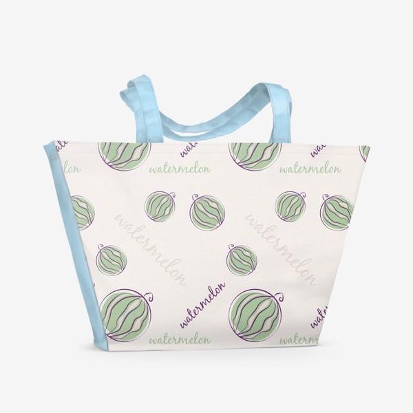 Пляжная сумка «Арбуз паттерн »