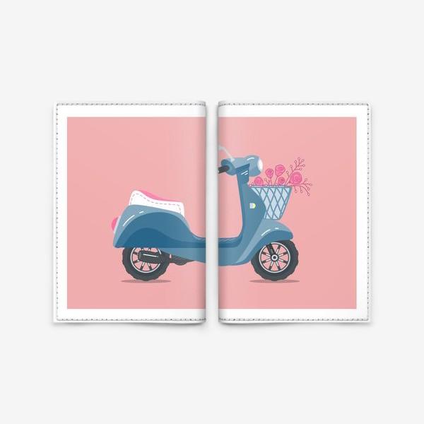 Обложка для паспорта «Мотороллер »