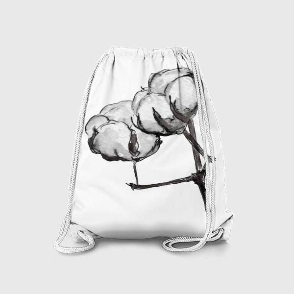 Рюкзак «Хлопок. Нежность в простом цветке.»