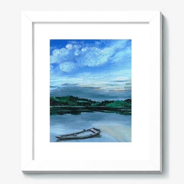Картина «Лодка на воде»
