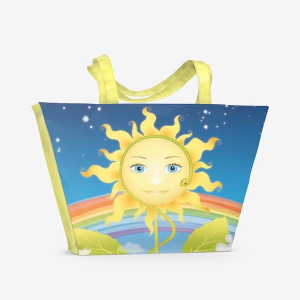 Пляжная сумка «Солнце-подсолнух»