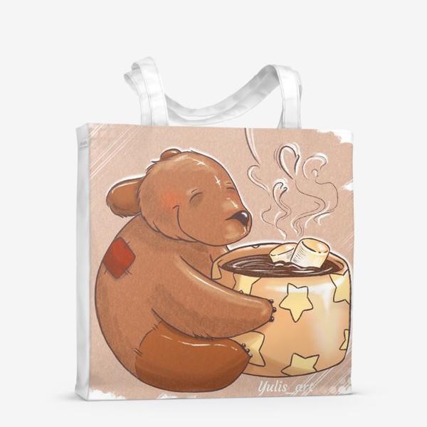 Сумка-шоппер «медвежонок с какао»