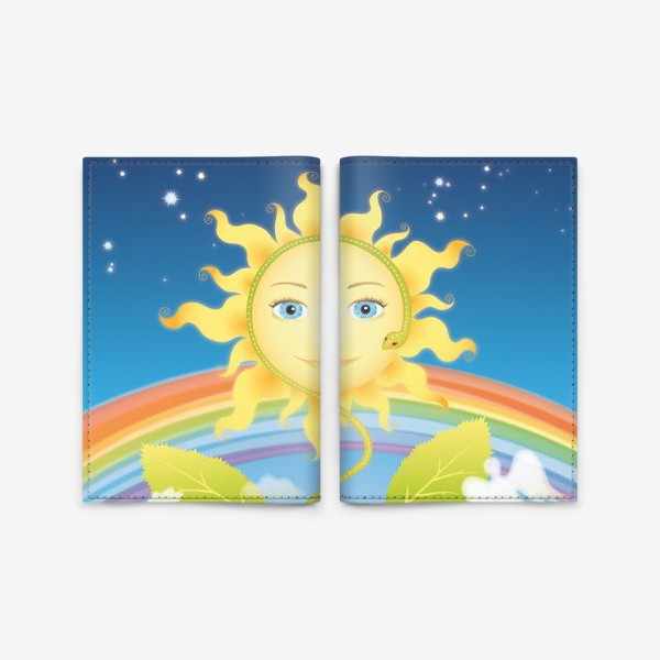 Обложка для паспорта «Солнце-подсолнух»