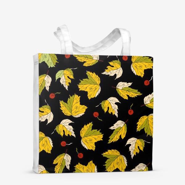 Сумка-шоппер «жёлтые листья и ягоды»