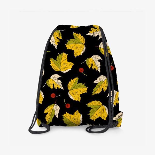 Рюкзак «жёлтые листья и ягоды»