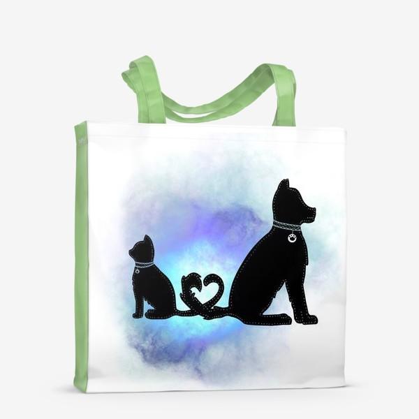 Сумка-шоппер «Собака и кот »