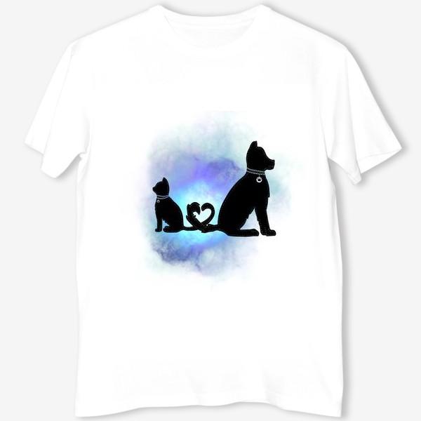 Футболка «Собака и кот »