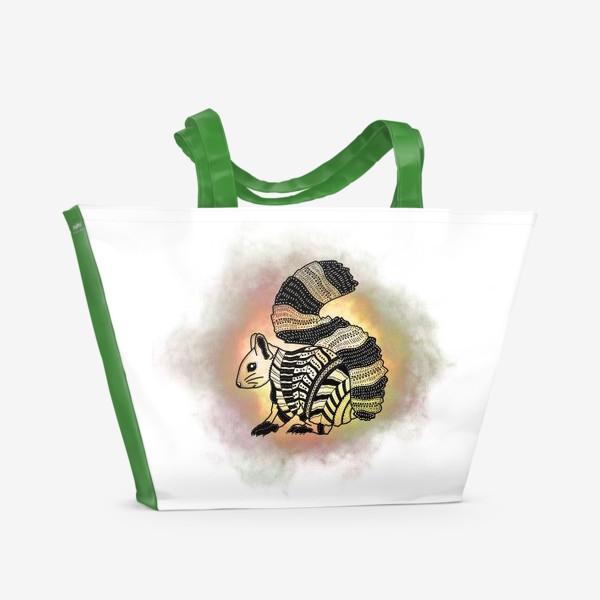 Пляжная сумка «Белка с узорами»