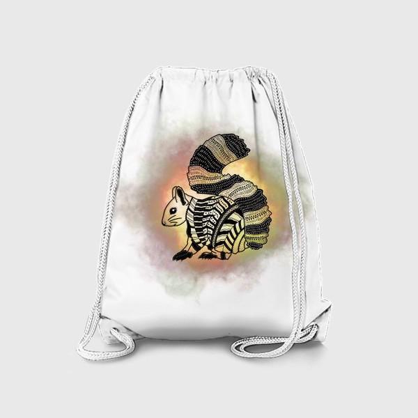 Рюкзак «Белка с узорами»