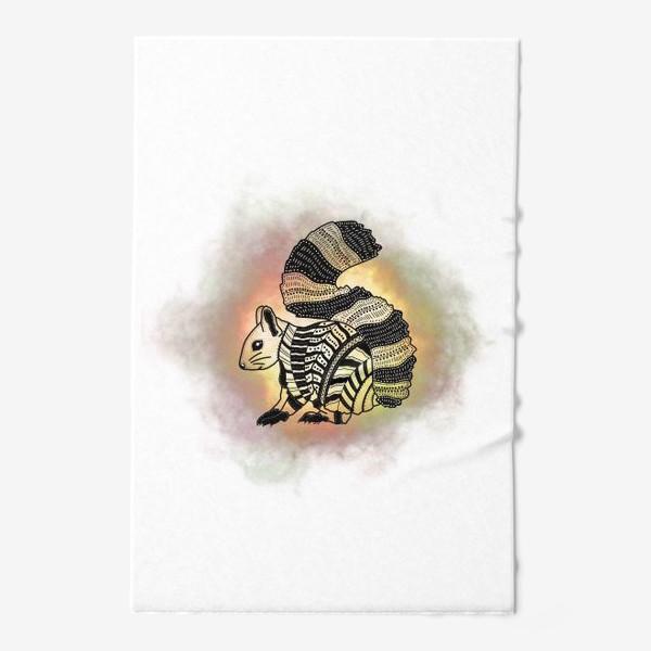 Полотенце «Белка с узорами»