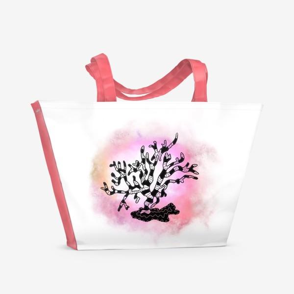 Пляжная сумка «Коралл »