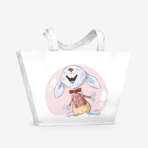 Пляжная сумка «Заяц певец»