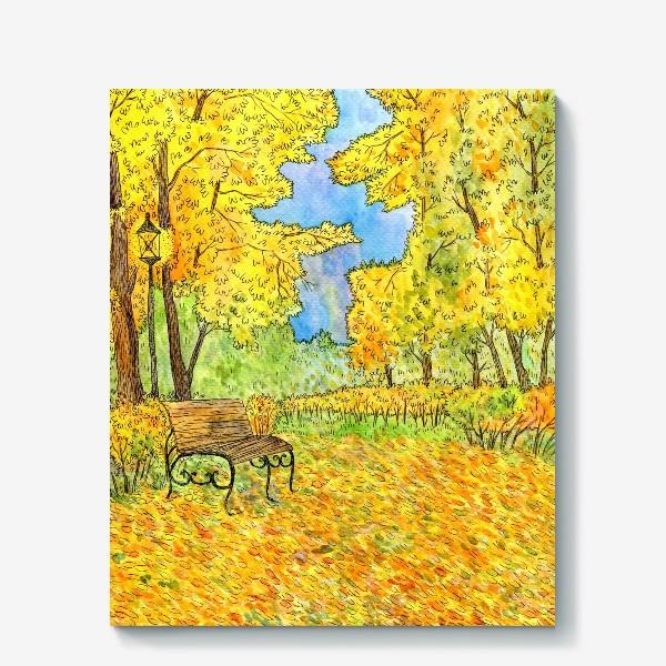 Холст «Осенний пейзаж в парке»