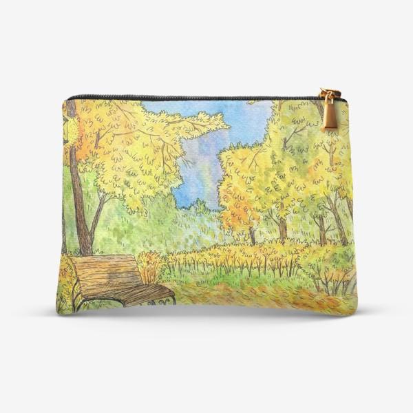 Косметичка «Осенний пейзаж в парке»