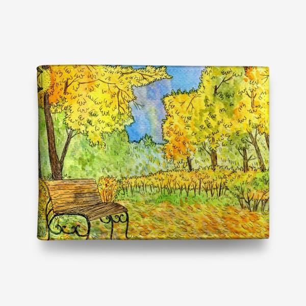 Кошелек «Осенний пейзаж в парке»