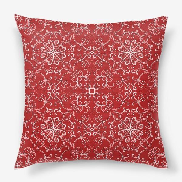 Подушка «Новогодний узор.паттерн »