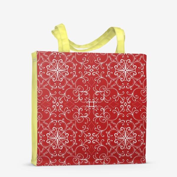 Сумка-шоппер «Новогодний узор.паттерн »