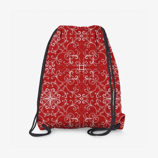 Рюкзак «Новогодний узор.паттерн »