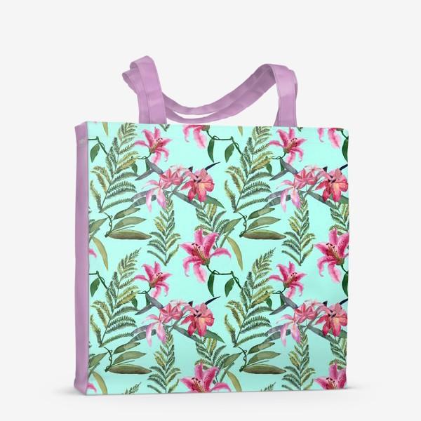 Сумка-шоппер «Лилия и папоротник»