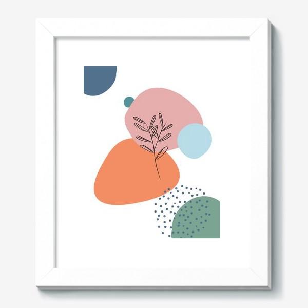 Картина «Графические фигуры и растение»