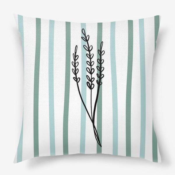 Подушка «Растение и линии2»