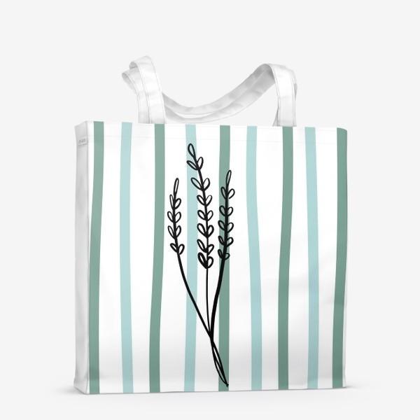 Сумка-шоппер «Растение и линии2»