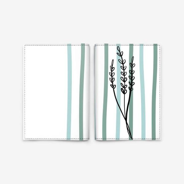 Обложка для паспорта «Растение и линии2»