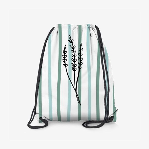 Рюкзак «Растение и линии2»