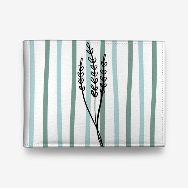 Кошелек «Растение и линии2»