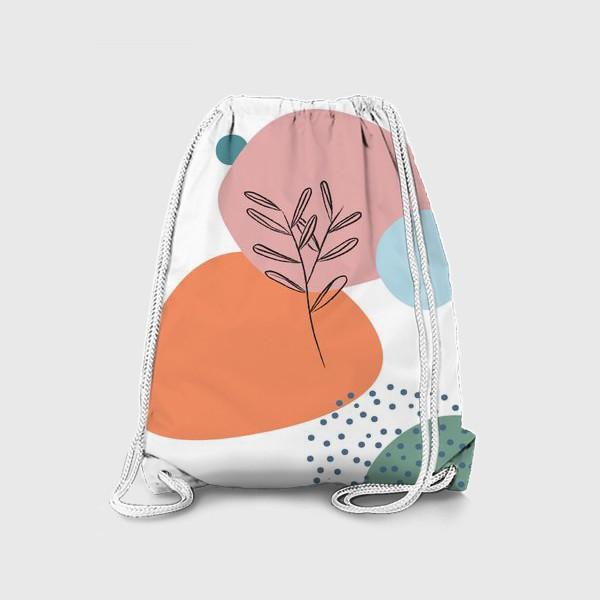 Рюкзак «Графические фигуры и растение»