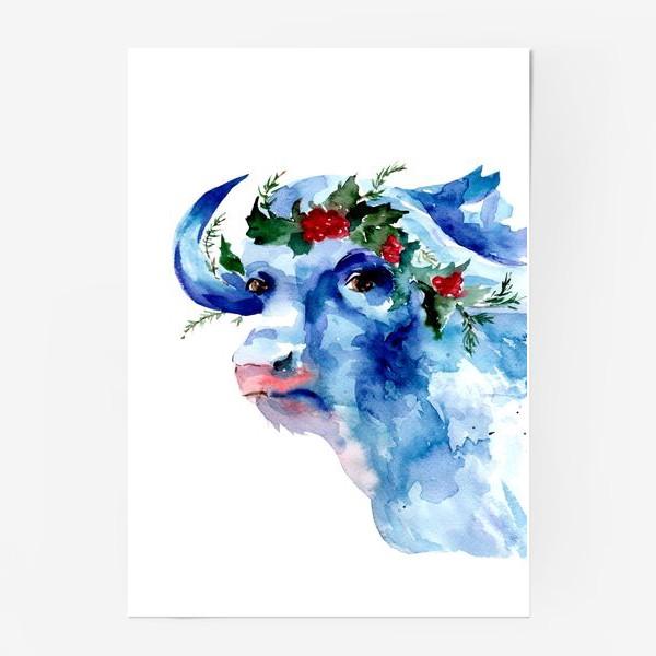 Постер «Морозный бык. Символ 2021 года»