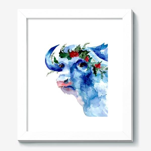 Картина «Морозный бык. Символ 2021 года»