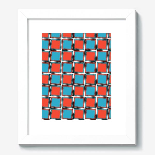 Картина «Красный и бирюза»
