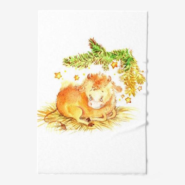 Полотенце «Бычок под елкой»
