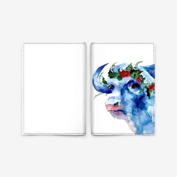 Обложка для паспорта «Морозный бык. Символ 2021 года»