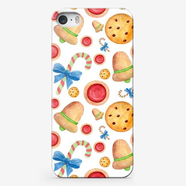 Чехол iPhone «Рождественские сладости, пряники и леденцы»