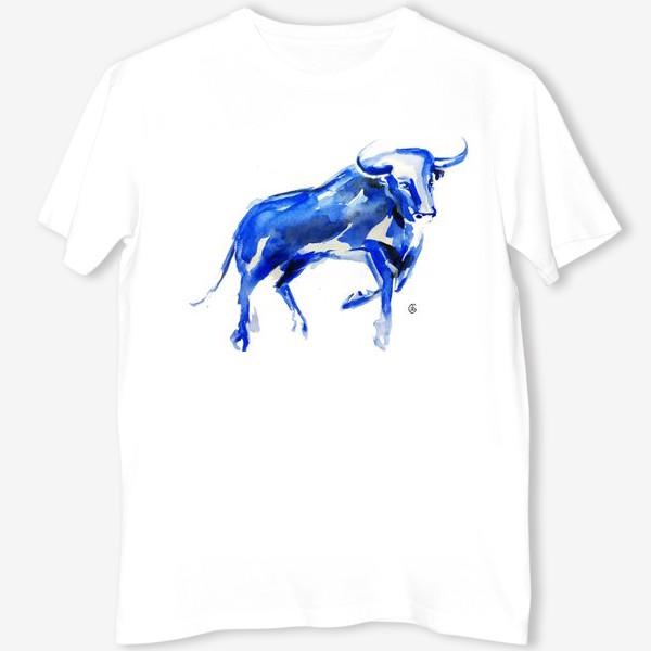 Футболка «Синий бык»