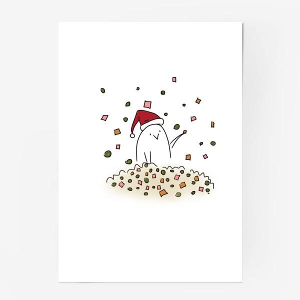 Постер «Новогоднее настроение. Все в оливье. Новый год 2021»