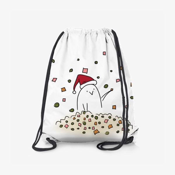 Рюкзак «Новогоднее настроение. Все в оливье. Новый год 2021»
