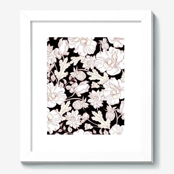 Картина «цветы на чёрном»