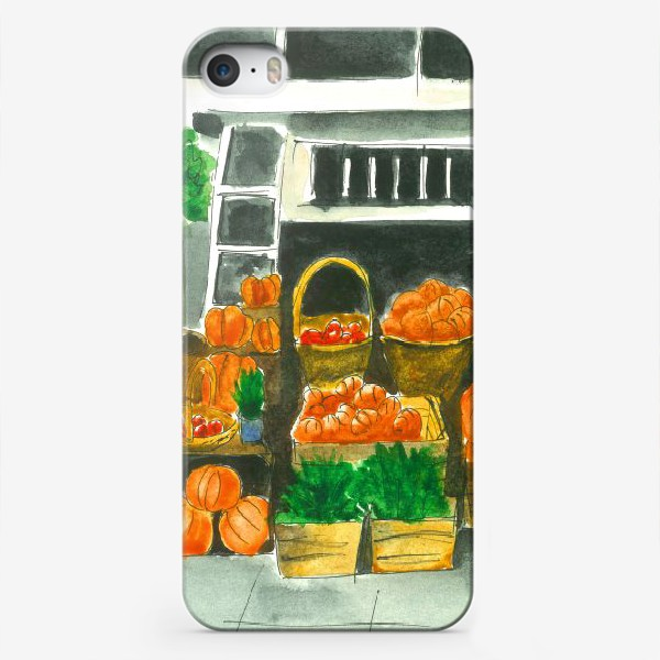 Чехол iPhone «Прилавок в Октябре»