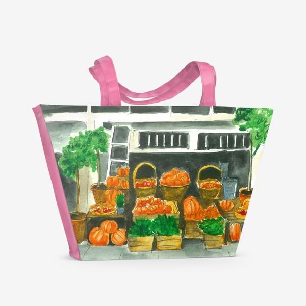 Пляжная сумка «Прилавок в Октябре»