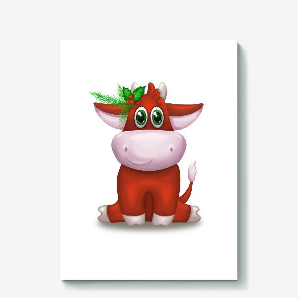Холст «Красный бык»
