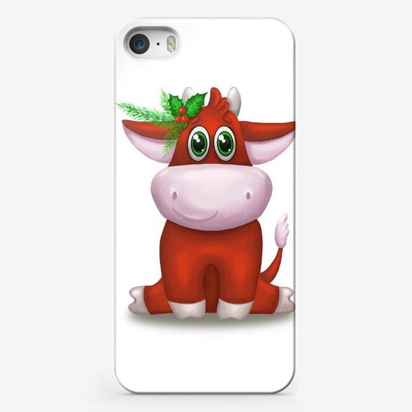 Чехол iPhone «Красный бык»