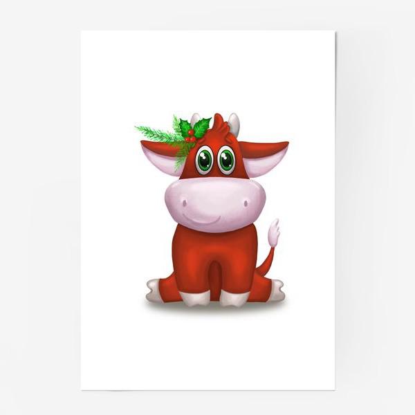 Постер «Красный бык»