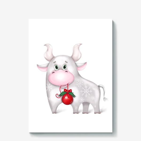 Холст «Металлический бык»