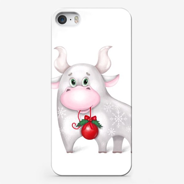 Чехол iPhone «Металлический бык»