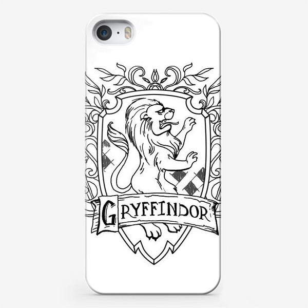 Чехол iPhone «Герб факультета Гриффиндор. Гарри Поттер. Gryffindor Crest. Harry Potter»
